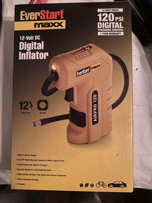 EverStart Digital Inflator 120PSI for Sale in Fresno, CA
