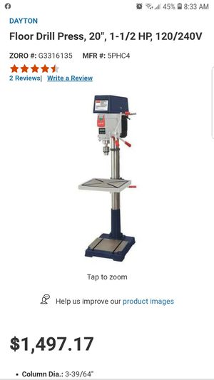 "Dayton Industrial grade 20"" drill press for Sale in Vancouver, WA"