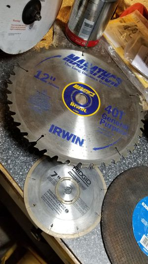 Saw blades chop table miter various sizes for Sale in Miami, FL