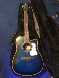 Blue guitar for Sale in San Angelo,  TX