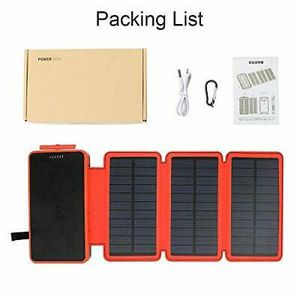 Powobest 7/10 Solar Charger 20000mAh(3 Solar Panels,2.1A Dual USB Ports)for iOS Android Tablet for Sale in OH, US