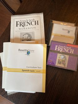 Rosetta Stone French and Spanish for Sale in Bethel Park,  PA