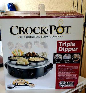 Crock Pot Triple Dipper Slow Cooker Brand New for Sale in Miami Beach, FL
