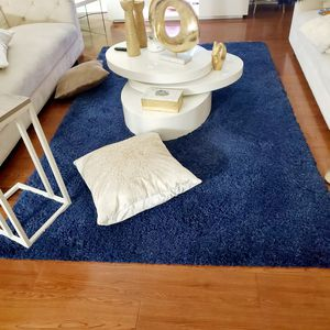 5' by 8' navy blue shaggy rug for Sale in Landover, MD