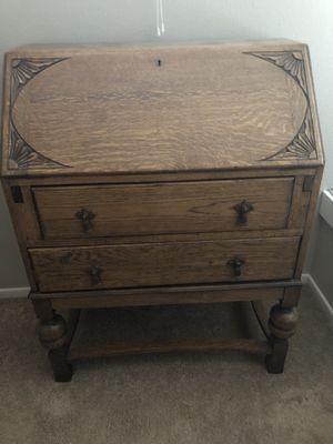 Antique Solid Oak Desk and Chair for Sale in La Mesa, CA