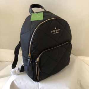New Kate Spade Quilted Black Backpack for Sale in Woodinville, WA