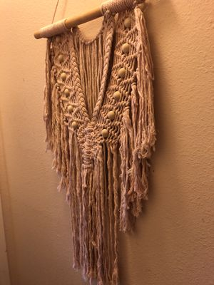 Brand new blush macrame wall hanging for Sale in Long Beach, CA