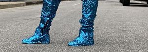 Blue Sequins Boots for Sale in Washington, DC