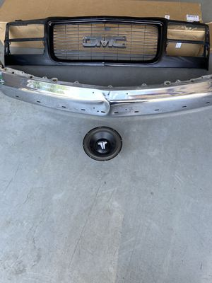 "OBS GMC Sierra parts grill and bumper and 10""sub. for Sale in Las Vegas, NV"