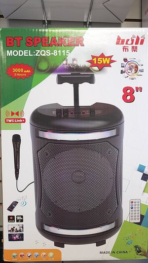 BT Speaker Portable Party Speaker wireless Bluetooth USB aux sd card port and mic & remote Included for Sale in Dallas, TX