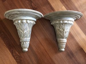 Patina Grey White Wall Shelves for Sale in Oakton, VA