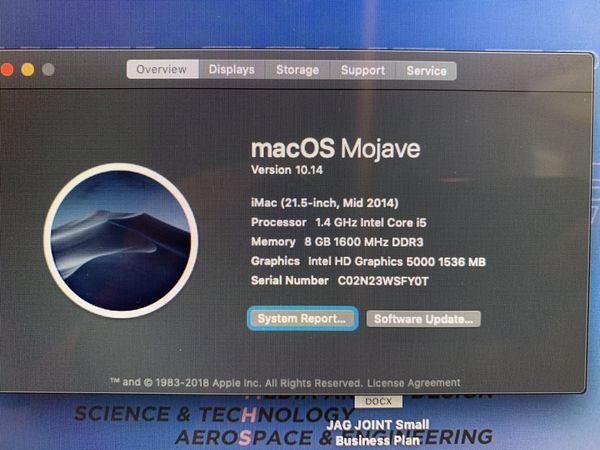 "Mid 2014 iMac 21"""