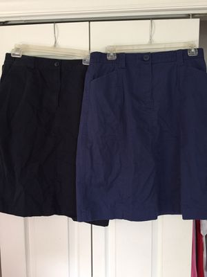 5 knee length skirts (Lands' End and L.L. Bean) for Sale in Bedford, VA