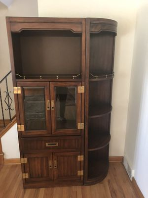 Beautiful antique 6 foot hardwood cabinet for Sale in South Euclid, OH