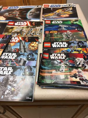 Over 5 pounds of Star Wars Lego Manuals - some vintage for Sale in Huntington Beach, CA