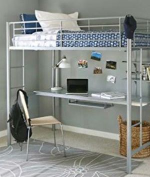 Bed,kids,metal,frame,desk for Sale in Haledon, NJ