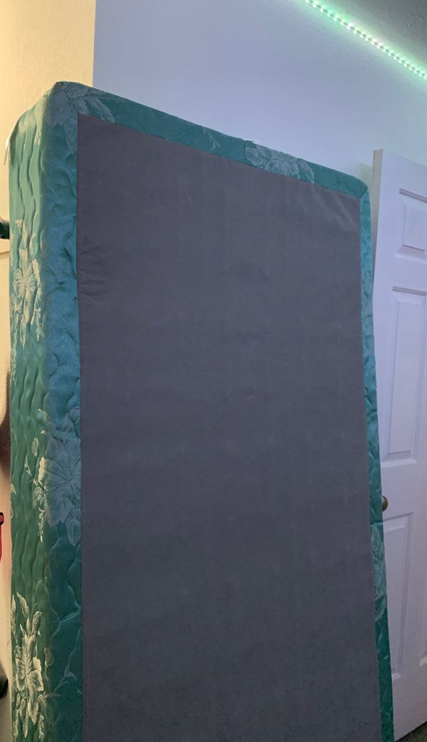 Free box spring and twin size bed frame clean home, non smoking no pets