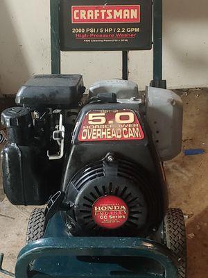 Craftsman / Honda 5 horse 2000 PSI pressure washer for Sale in Eugene, OR