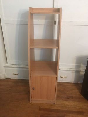 Tall Tan Shelving Unit for Sale in Los Angeles, CA