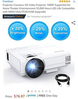HD video projector 1080p home theater for Sale in New York, NY