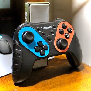 SAITAKE Controller for the Nintendo Switch - Red/Cyan for Sale in Chatsworth, CA