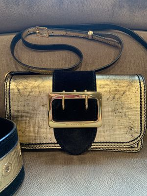Burberry Small Suede Buckle Bridle Metallic Shoulder Bag for Sale in Des Moines, WA