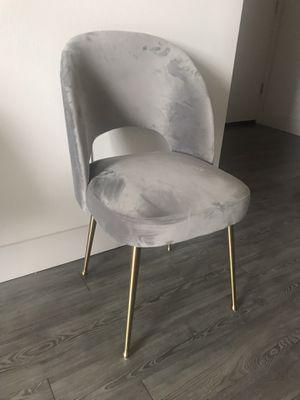 Gray velvet desk chair for Sale in San Jose, CA