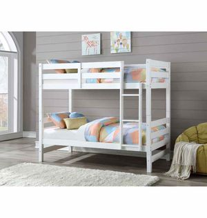 Bunk Bed (Twin/Twin) - 37785 - White/brown XX Q for Sale in La Verne, CA
