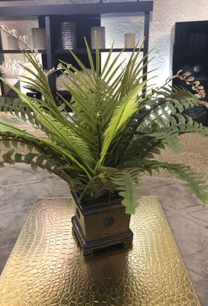 Fake Plant with Bronze Color Base for Sale in Scottsdale, AZ