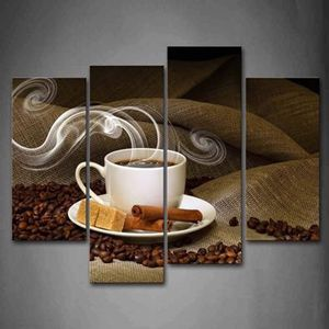 Coffee Bean Kitchen Wall Art Painting Picture Canvas Home Modern Decor Decoration Kitchen Artwork for Sale in Toledo, OH