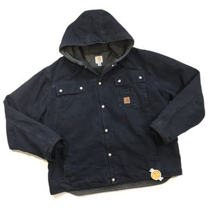 CARHARTT J284 SHERPA LINED WORK JACKET HOODIE XL MENS BLUE DUCK ARCTIC QUILTED for Sale in Los Angeles, CA