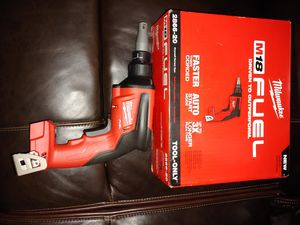 Brand new fuel mikwaukee drywall drill 18v TOOL ONLY HERRAMIENTA SOLAMENTE for Sale in Chicago, IL