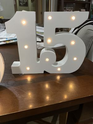 Quinceanera lighted numbers for Sale in Garden Grove, CA