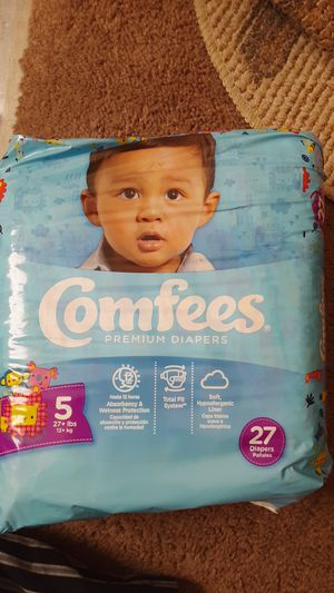 Size 5 diapers comfees for Sale in Woodbury, NJ