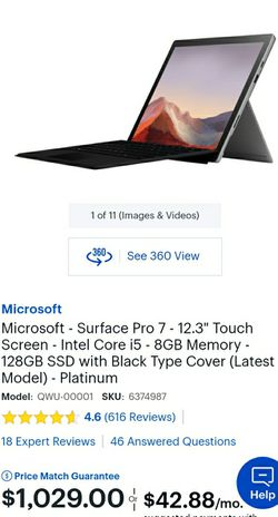 Microsoft Surface Pro 7 that is barely used!!!! for Sale in San Diego,  CA
