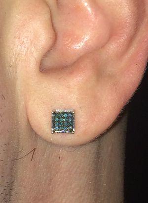 Blue Diamond Real earrings $599.00 for Sale in Las Vegas, NV