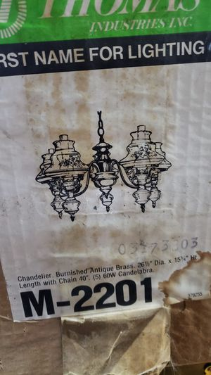 Chandelier new vintage. Brass. Beautiful for Sale in NO HUNTINGDON, PA