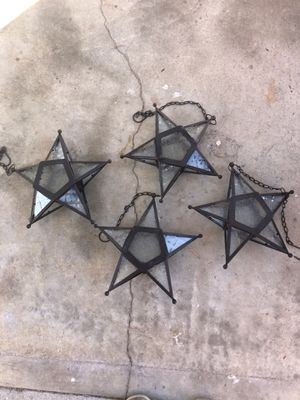 Hanging star candle holders for Sale in Los Angeles, CA