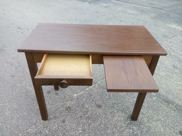 Small Desk / Table with Drawer + Shelf - Solid and Sturdy!