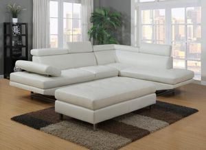We Are Open! Ibiza White 3 piece Sectional with Ottoman! TAX TIME Sale! NO CREDIT NEEDED FINANCING ! Same Day Delivery! for Sale in Tampa, FL
