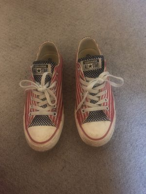 Converse all-star (American flag) sneakers size 7 for Sale in Vienna, VA
