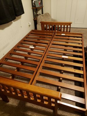 Wooden Futon with 2 mattresses for Sale in Fresno, CA
