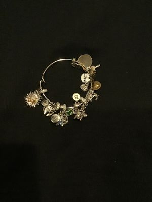 Bangle bracelet with charms for Sale in Chicago, IL