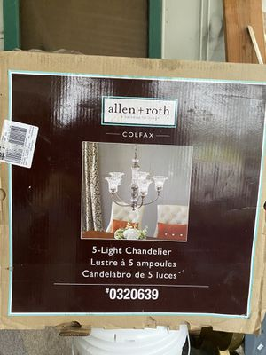 Allen Roth 5 light chandelier for Sale in Auburn, WA