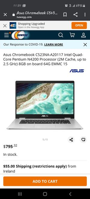 ASUS chromebook for Sale in Tempe, AZ