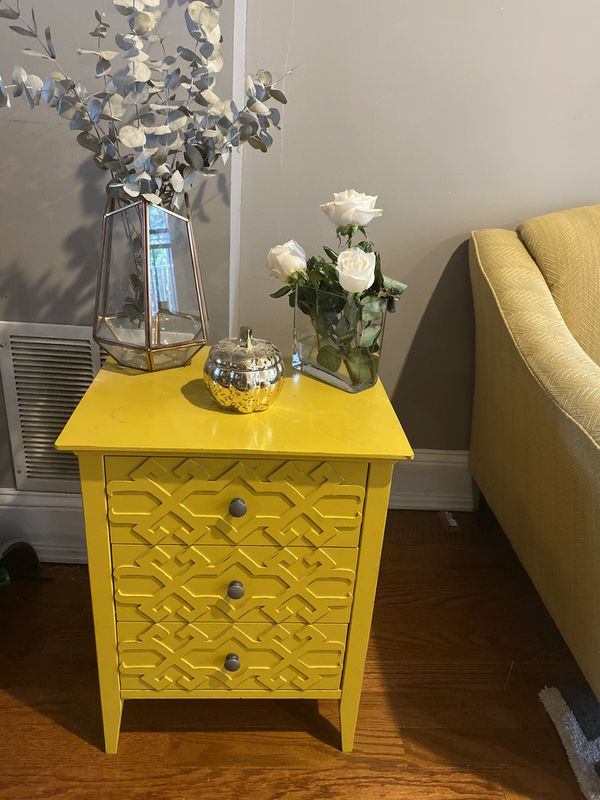 Golden Yellow Nightstand/End Table