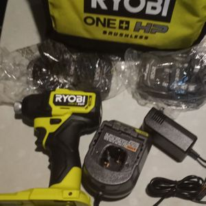 Ryobi Impact Dill Kit With Two Batteries And Charger Never Used Before for Sale in Columbus, OH