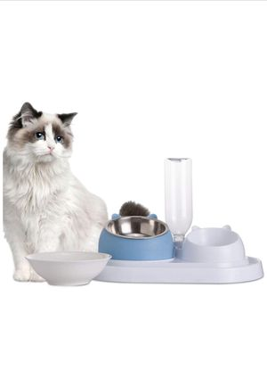 Dog/Cat bowl set with automatic water dispenser for Sale in Brooklyn, NY