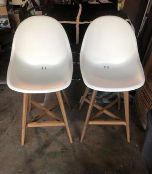 White tall ikea chairs for Sale in Alhambra, CA