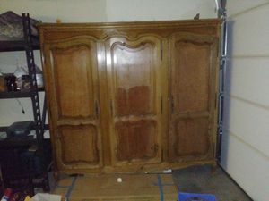 Antique china cabinet storage for Sale in Las Vegas, NV